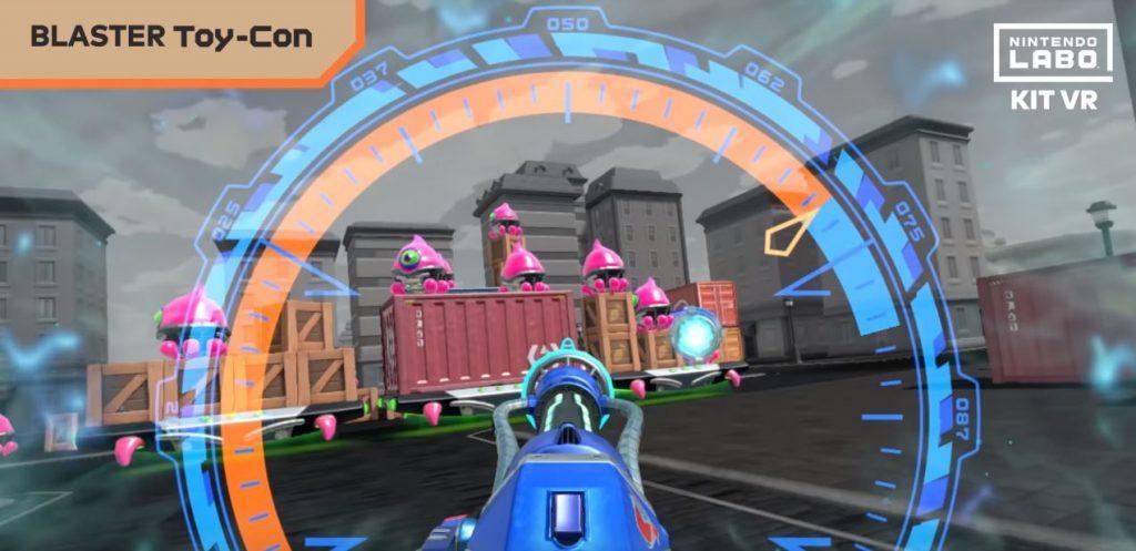 Modalità Blaster di Nintendo Labo VR