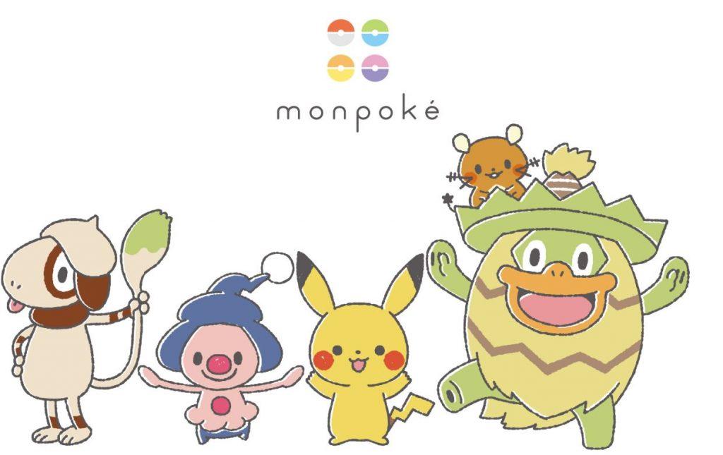 monpoké e pokémon in primo piano