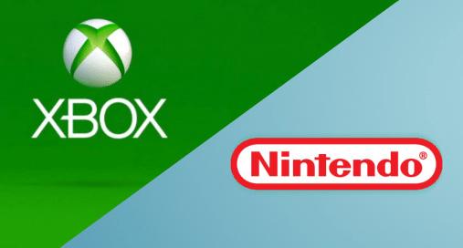 Loghi di Nintendo e Xbox