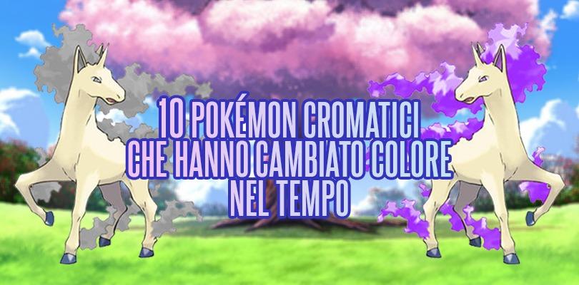 10 Pokémon cromatici che hanno cambiato colore nel tempo