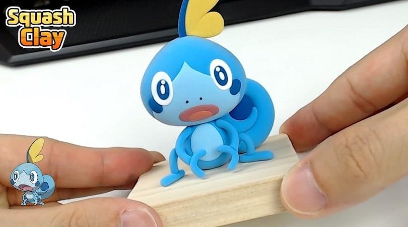 Sobble: un video tutorial descrive come creare il Pokémon Acqua con l'argilla