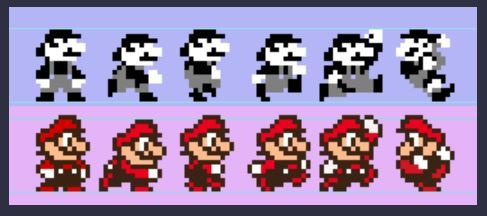 Sprite del personaggio di Mario in Super Mario Land