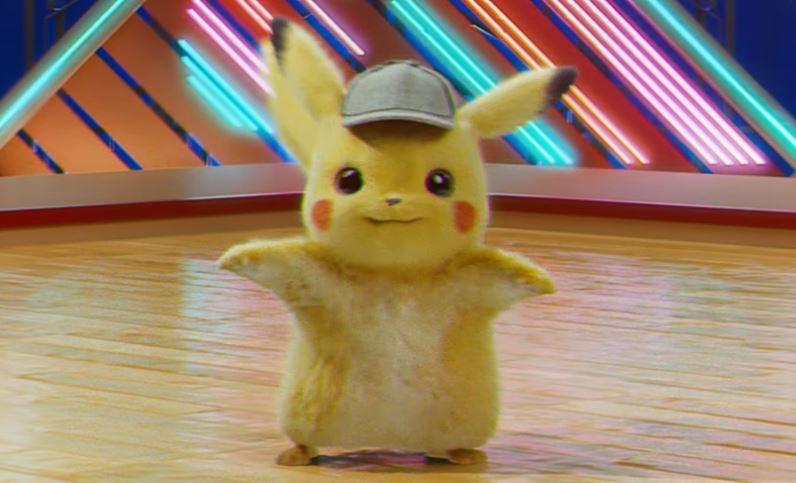 Detective Pikachu in una schermata del falso film