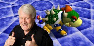 Immagine di Charles Martinet sullo sfondo di Super Mario 64