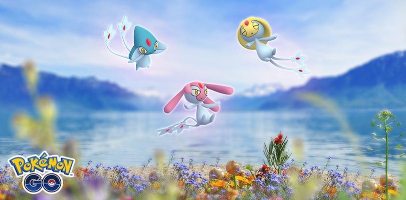 Uxie, Mesprit e Azelf arrivano nei raid di Pokémon GO