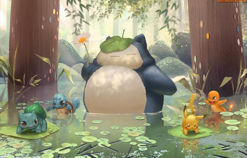 Artwork di Snorlax