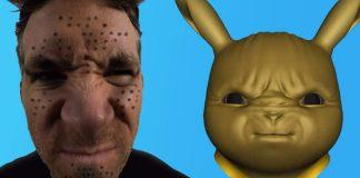 Dettaglio delle animazioni di Ryan Reynolds in Detective Pikachu
