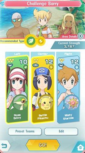 Pokémon Masters gameplay 1