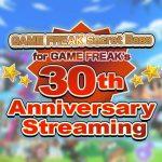 Game Freak 30 anniversario
