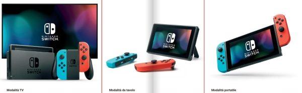 Varie funzioni di Nintendo Switch