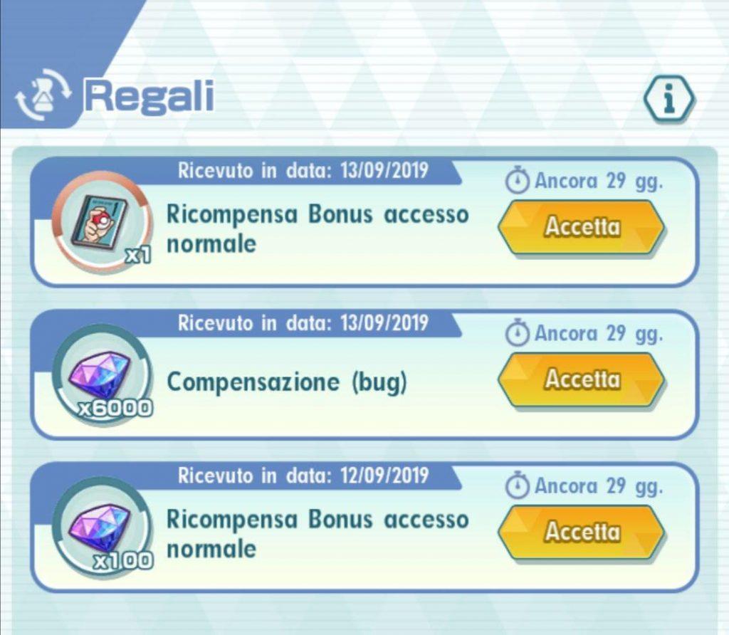 Regali compensativi per i bug