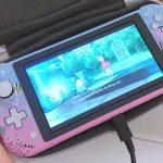 la personalizzazione della Nintendo Switch Lite in stile Vaporwave prodotta da Mizucat