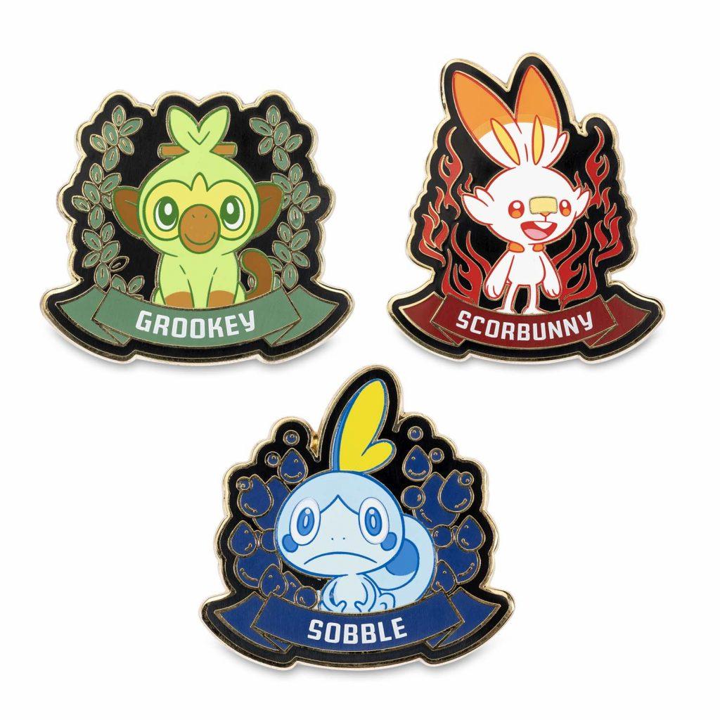 le spille dei Pokémon iniziali di Galar disponibili nei Pokémon Center Americani