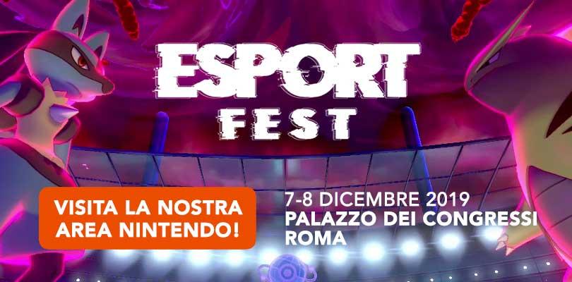 L'Area Nintendo E.N.S.I. di Pokémon Millennium ti aspetta all'Esport Fest di Roma il 7 e 8 dicembre!