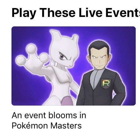 Giovanni e Mewtwo sull'App Store