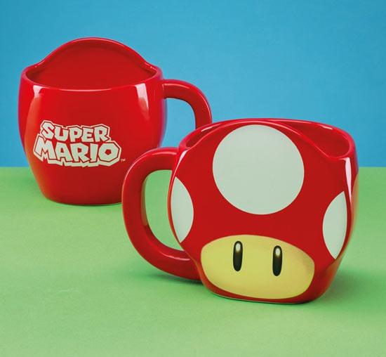 regali Nintendo tazza fungo