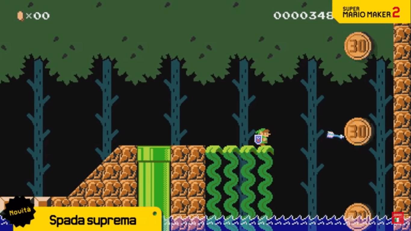 Link fa la sua comparsa in Super Mario Maker 2 grazie al nuovo aggiornamento