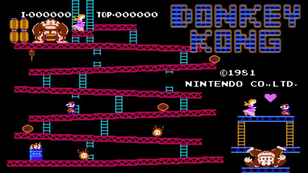 Donkey Kong nel primo, indimenticabile titolo del 1981 per Nintendo.
