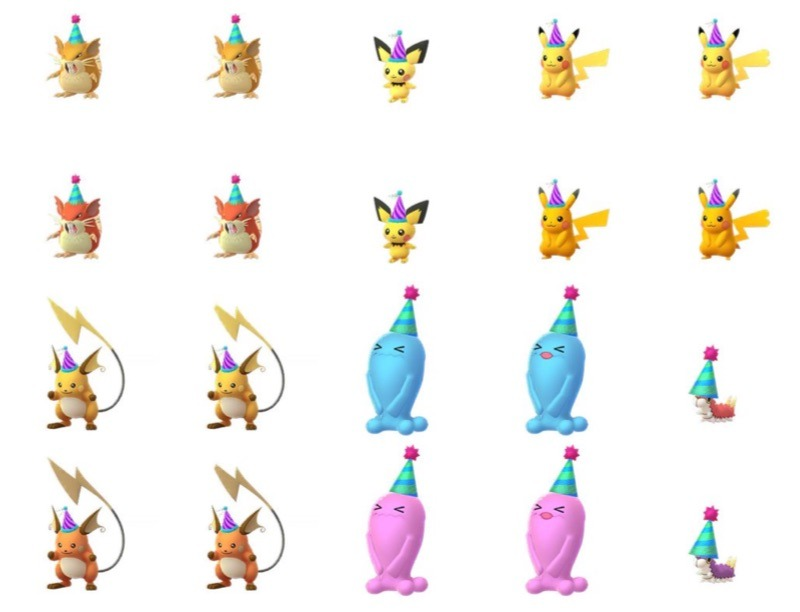 Maratuova 2020 Pokémon con cappello da festa
