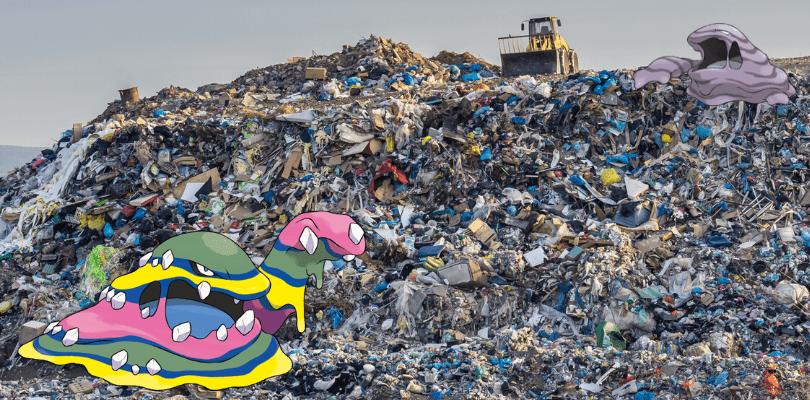 I Muk adorano mangiare i rifiuti dispersi nell'ambiente