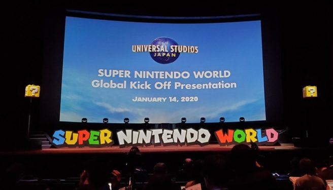La presentazione del Super Nintendo World tenutasi il 14 gennaio.