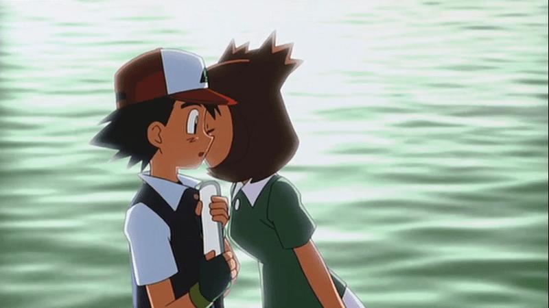 Ash viene baciato da Bianca-Latias