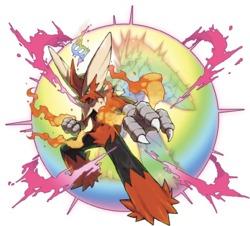 MegaBlaziken, una delle tante megaevoluzioni del mondo Pokémon