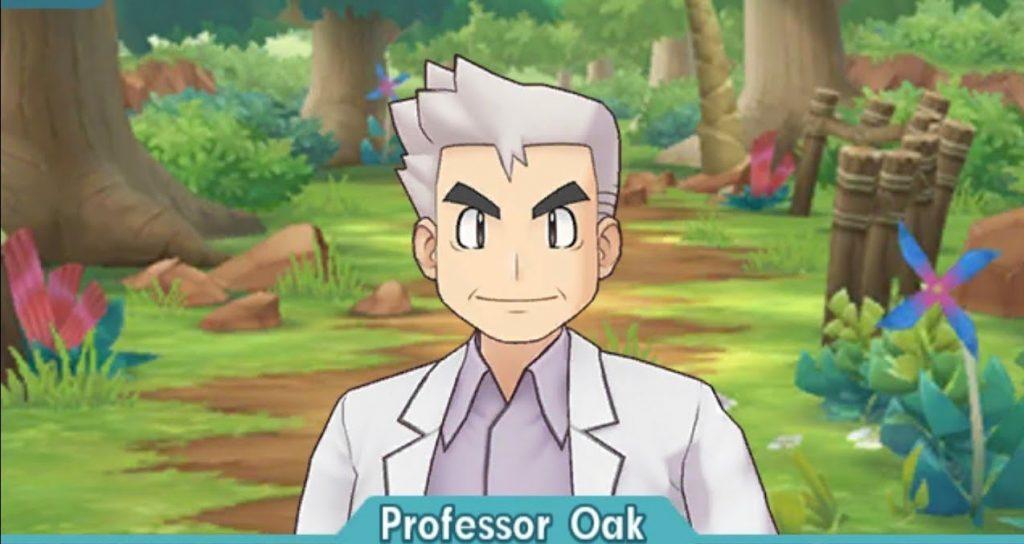 Il Professor Oak in Pokémon Masters