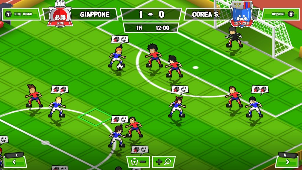 Partita a 11 giocatori in Ganbare! Super Strikers