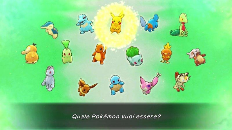 Pokémon Mystery Dungeon scelta