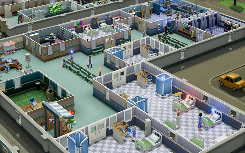 Two Point Hospital stanze