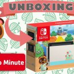 unboxing Nintendo Switch Animal Crossing New Horizons