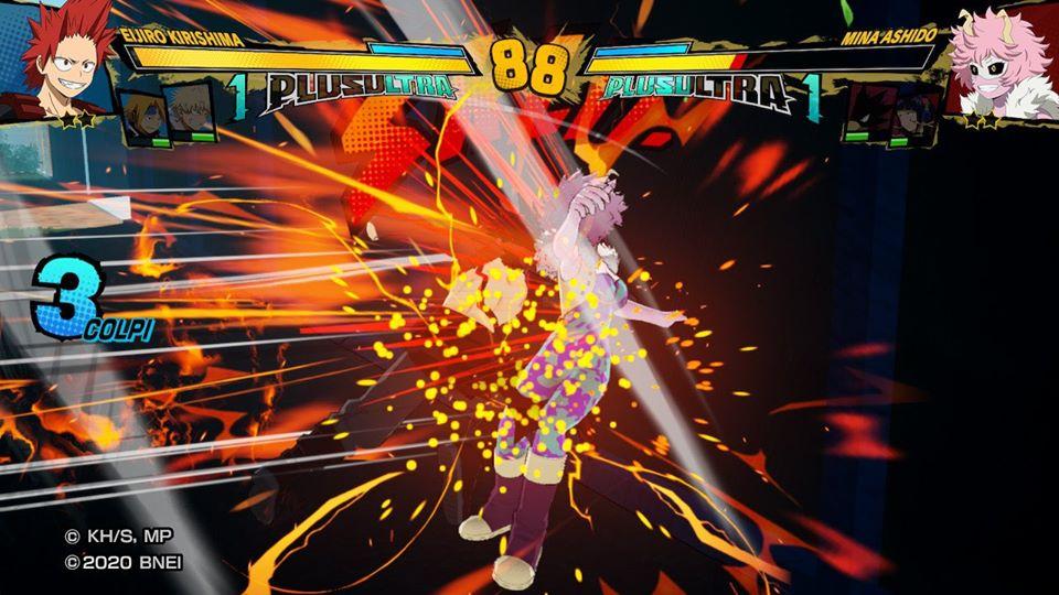 Kirishima all'attacco in MY HERO ONE'S JUSTICE 2