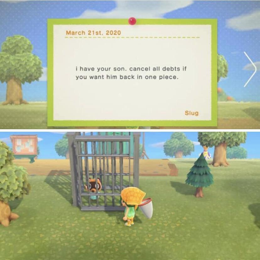 Richiesta riscatto Marco Animal Crossing: New Horizons