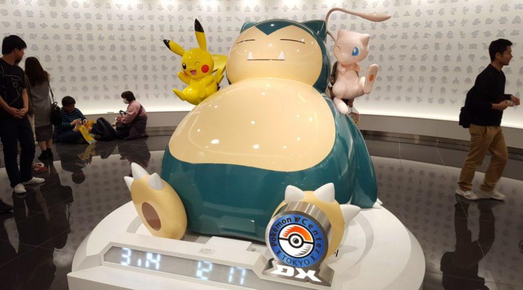 Pokémon Center statua Snorlax