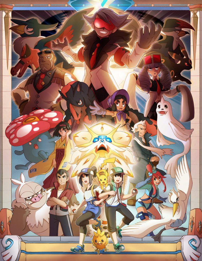 Primo classificato del Pokémon Masters Fan Art Festival