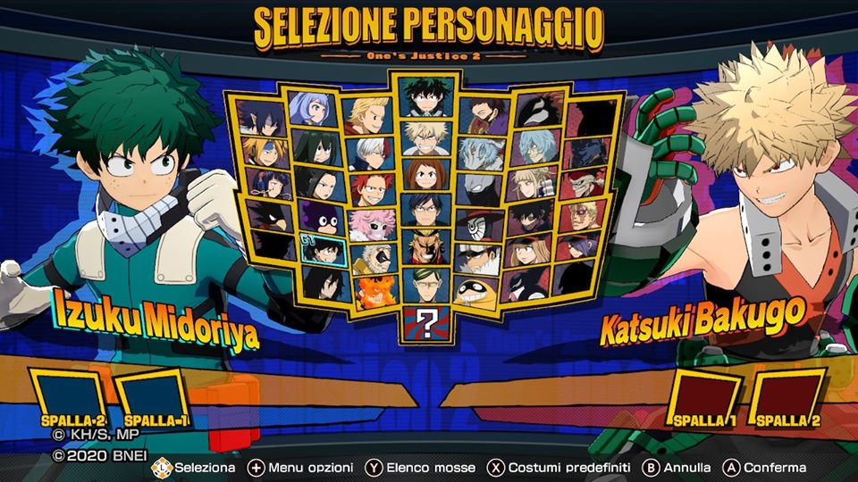 Roster MY HEROONE'S JUSTICE 2
