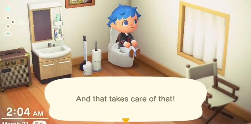 fare la cacca su Animal Crossing: New Horizons