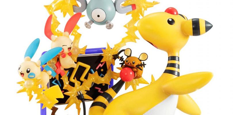 Mostrata la statuetta elettrizzante di Ampharos e i Pokémon di tipo Elettro