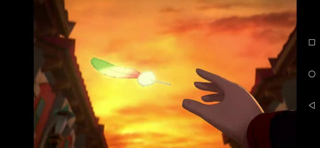 L'Ala d'iride di Ho-Oh è comparsa nei cieli di Pasio