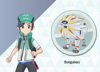 Solgaleo e l'Allenatore protagonista di Pokémon Masters