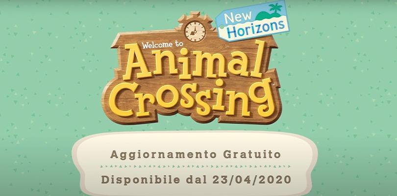 Aggiornamento gratuito di Animal Crossing: New Horizons. Arrivano arte, giardinaggio e tante novità