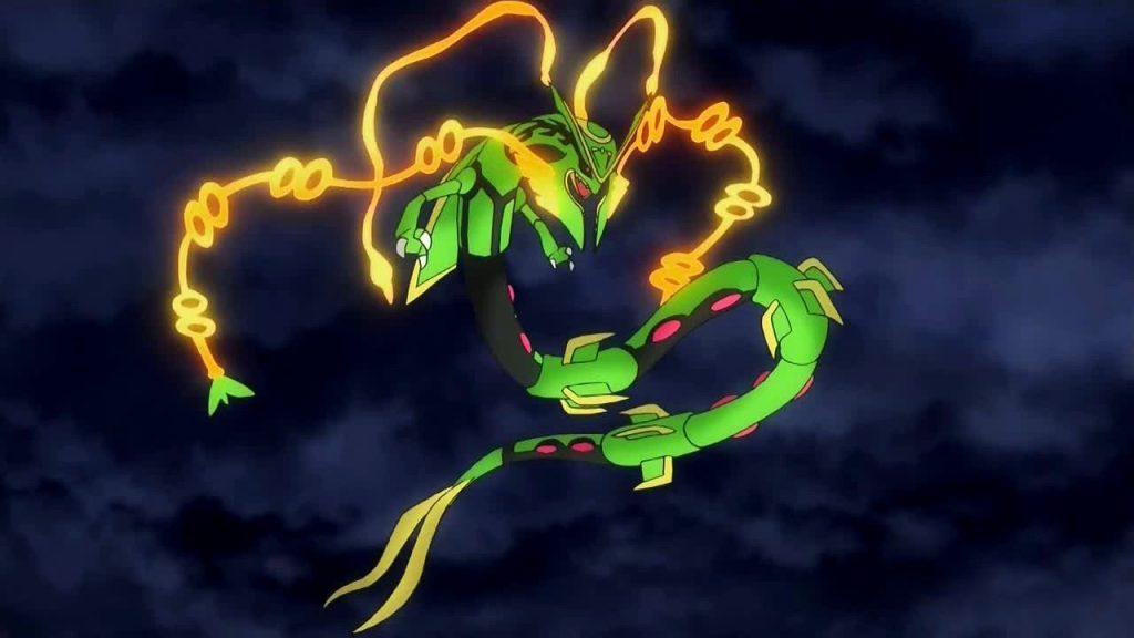 MegaRayquaza serie animata Pokémon