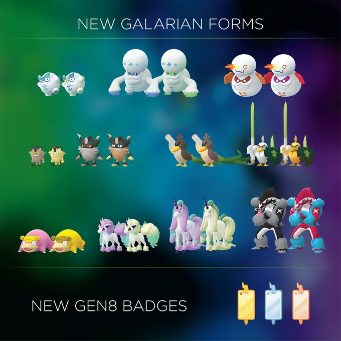 Modelli delle Forme Galar trovati nel server di Pokémon GO