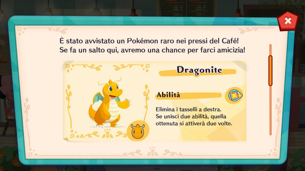 Dragonite arriverà presto in Pokémon Café Mix