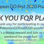 codice Pokémon GO Fest