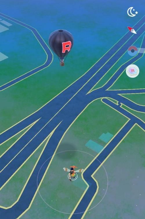 mongolfiere Team GO Rocket mappa