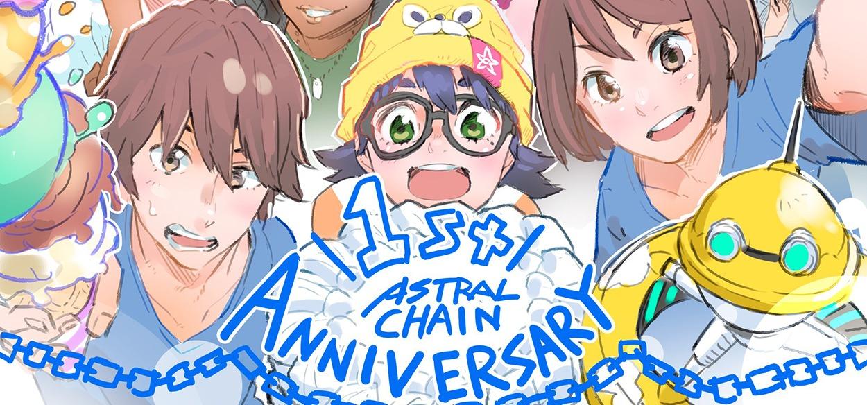 Astral Chain festeggia il primo anniversario con una particolare illustrazione