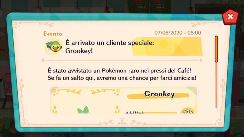 Grookey sarà il quarto ospite speciale di Pokémon Café Mix