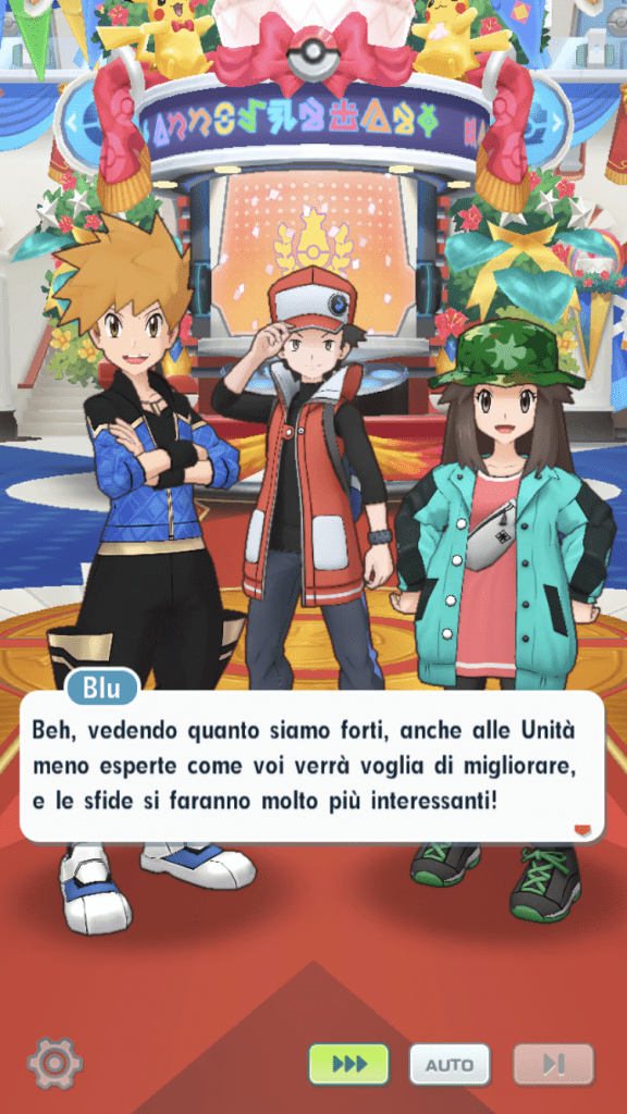 Gli ambasciatori di Pokémon Masters, ovvero Rosso, Verde e Blu
